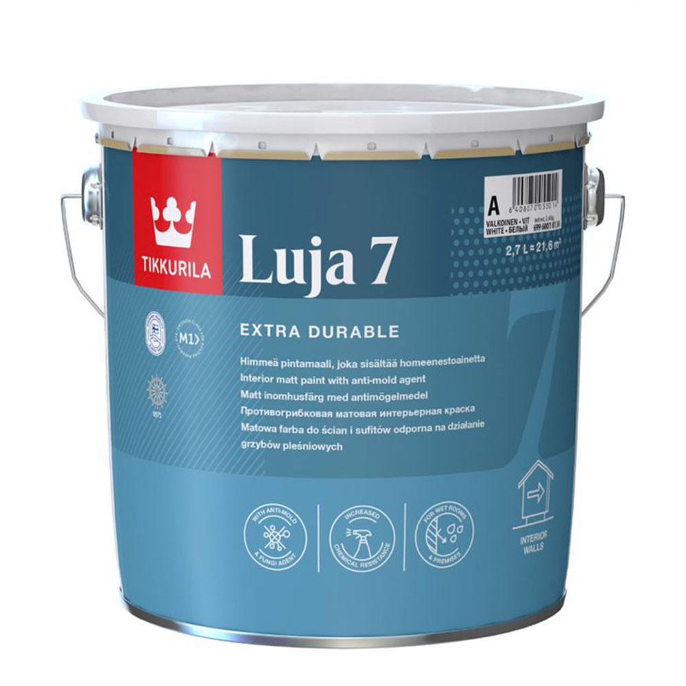 Краска водно-дисперсионная моющаяся Tikkurila Luja 7 Himmea основа C 2,7 л