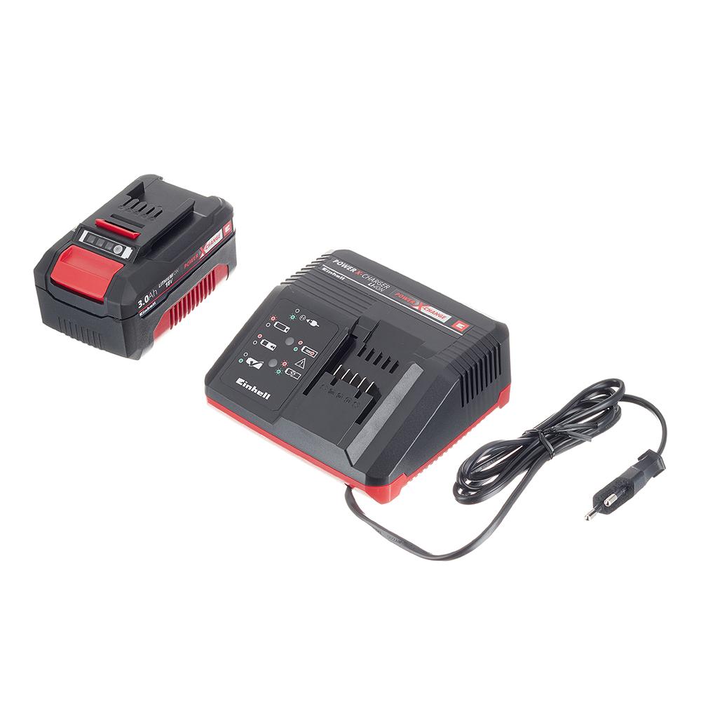 Аккумулятор Einhell POWER X-CHANGE (4512041) 3Ач Li-Ion 18В с зарядным устройством в комплекте набор зарядное устройство акб einhell 18в 3 0ач li ion power x change
