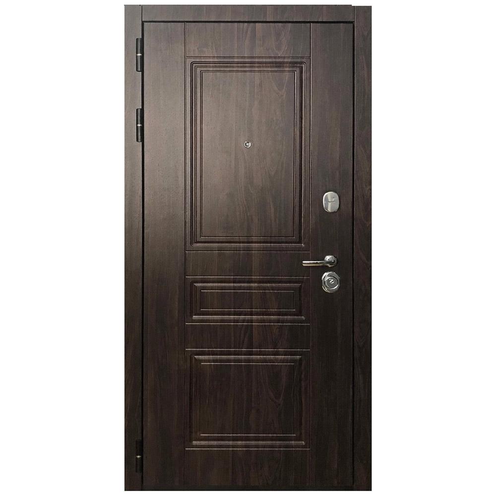 Дверь входная Дверной континент Прованс левая черный муар - ясень белый 860х2050 мм
