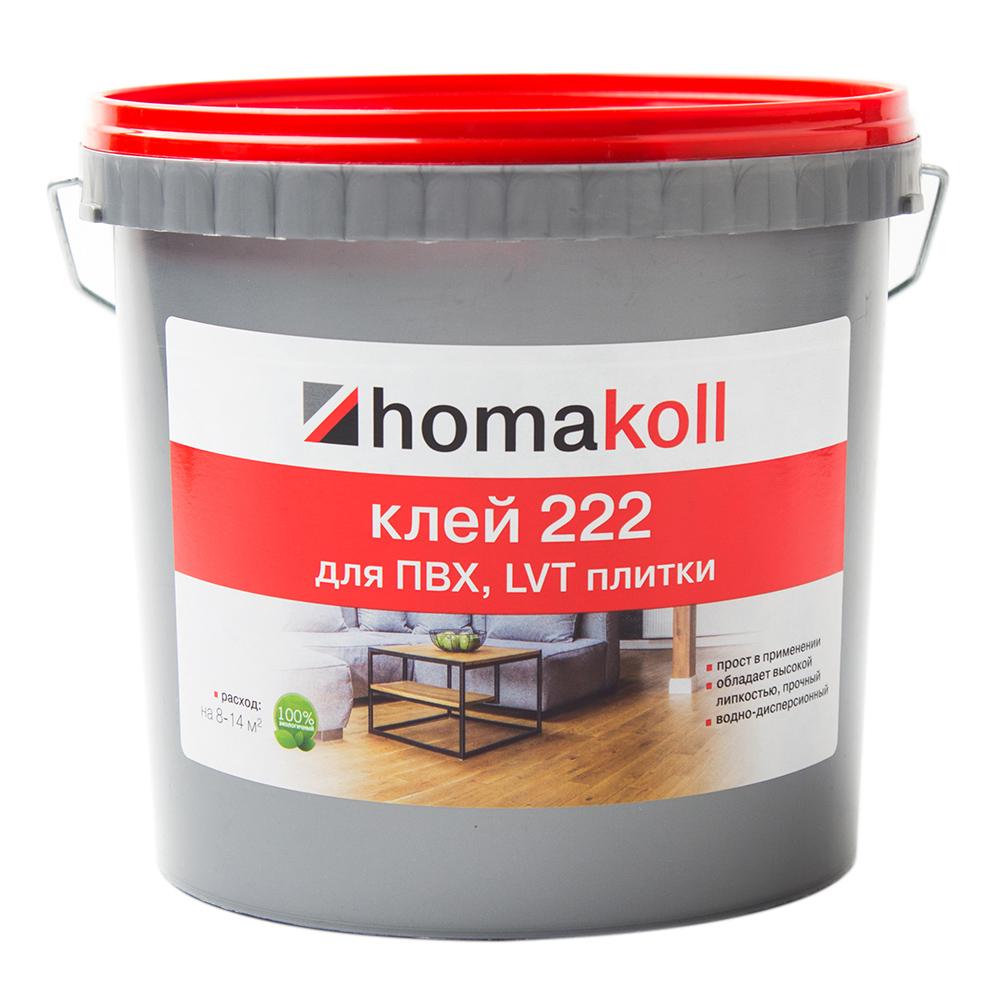 Клей для ПВХ, LVT плитки Homa homakoll 222 6 кг