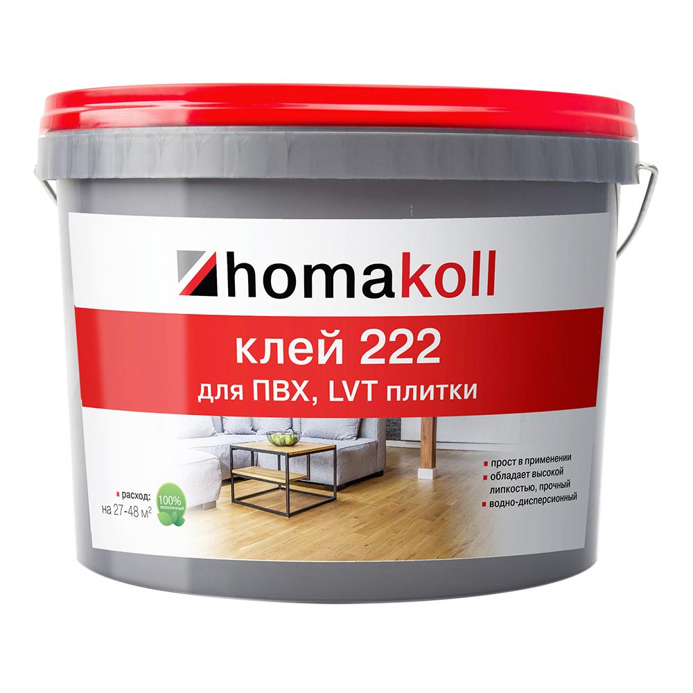 Клей для ПВХ, LVT плитки Homa homakoll 222 12 кг