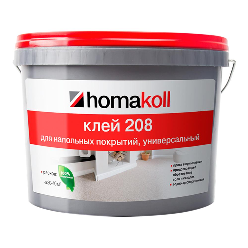 Клей для гибких напольных покрытий универсальный Homa homakoll 208 14 кг