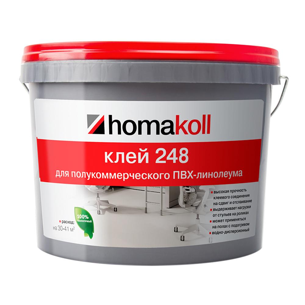 Клей для полукоммерческого ПВХ-линолеума Homa homakoll 248 14 кг