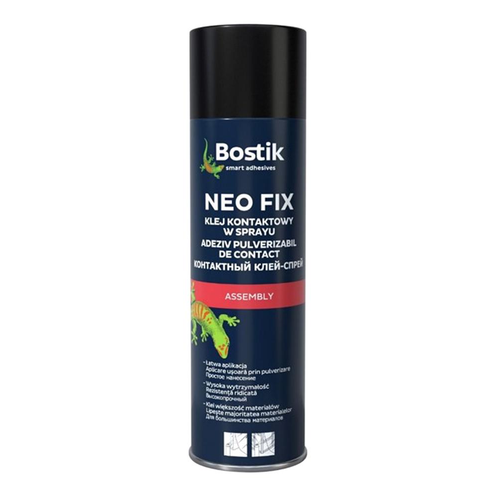 Клей-спрей контактный универсальный Bostik Neo Fix прозрачный 500 мл