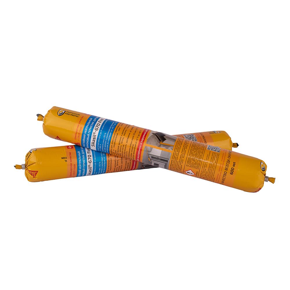 Герметик силиконовый противопожарный Sika Sikasil-670 Fire белый 600 мл