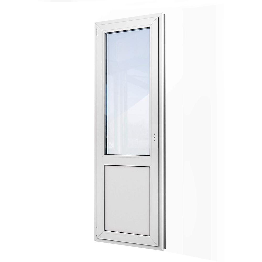 Дверь пластиковая VEKA WHS Halo 2140х670 мм левая поворотно-откидная 1 створка двухкамерная
