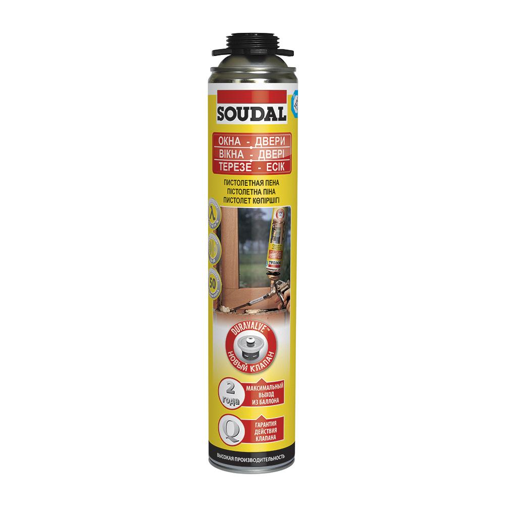 Пена монтажная Soudal Gunfoam Yellow Окна-Двери профессиональная 750 мл