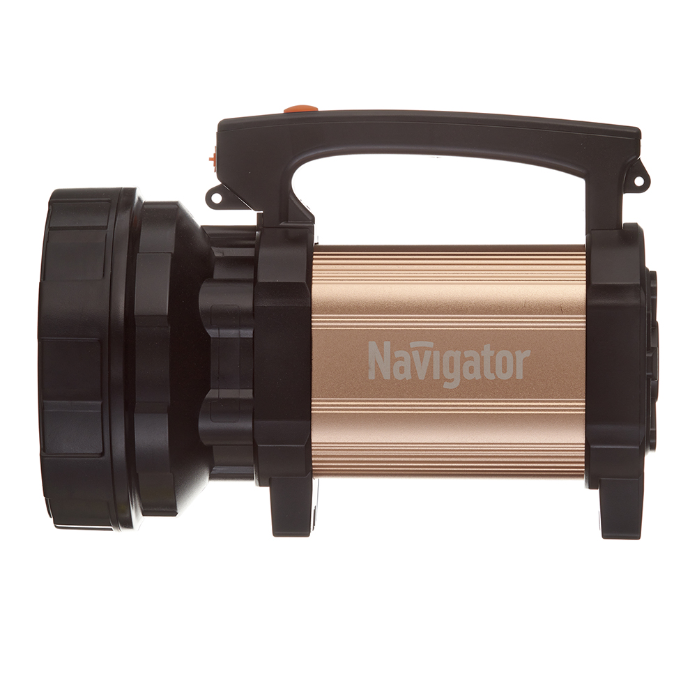 Фонарь ручной Navigator (715970) светодиодный 1 LED 10 Вт аккумуляторный SLA 4500 мАч пластик