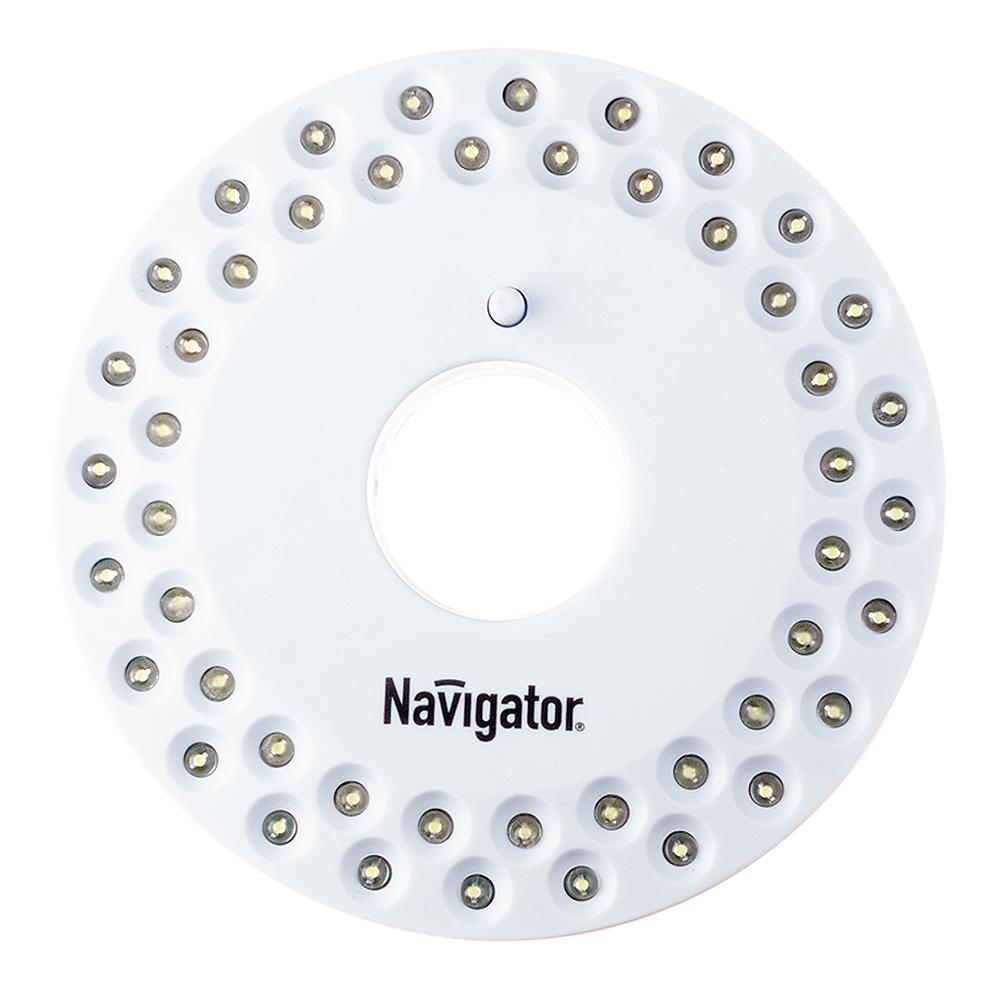 Фонарь кемпинговый Navigator (949485) светодиодный 48 LED на батарейках пластик круглый