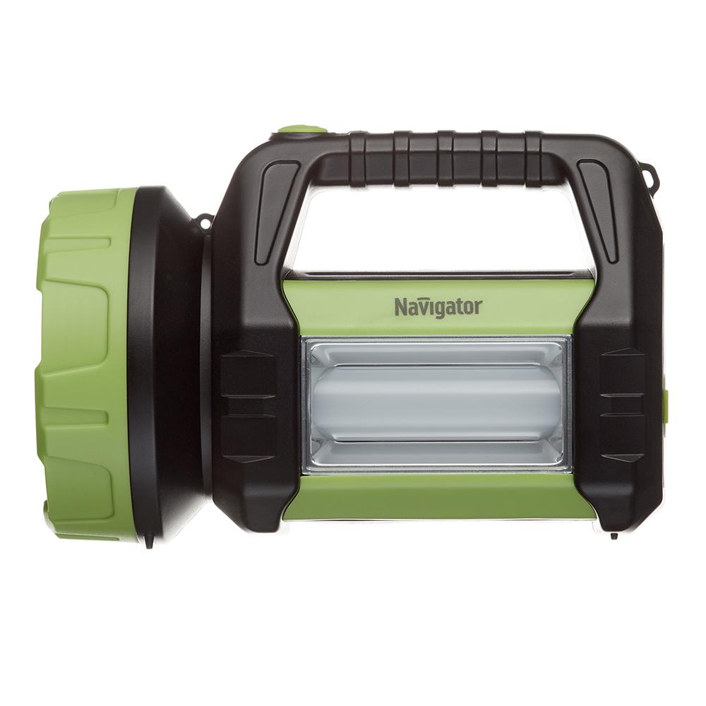Фонарь ручной Navigator светодиодный 20+1 LED 15 Вт аккумуляторный пластик