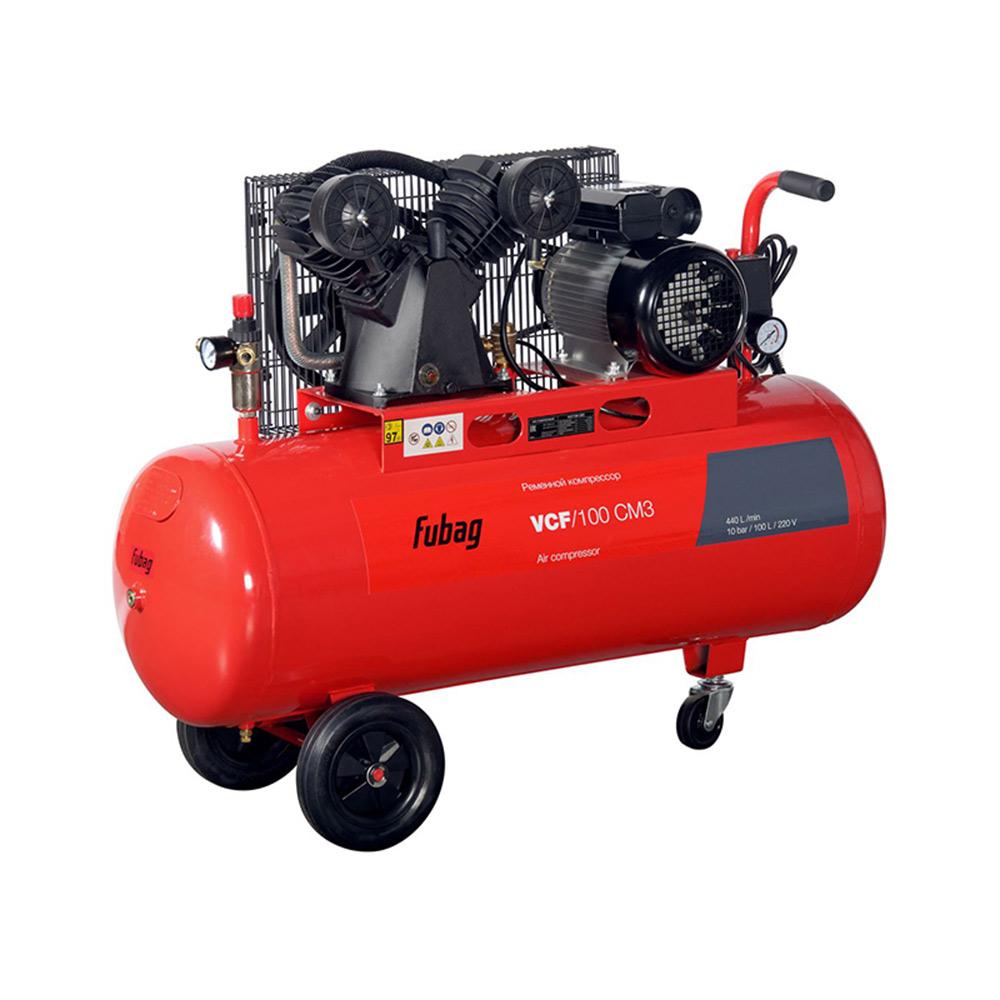 Компрессор ременной Fubag (45681472) VCF/100 CM3 100 л 2,2 кВт компрессор fubag vcf 100 сm3 440л мин 100л 10бар 2 2квт 220в