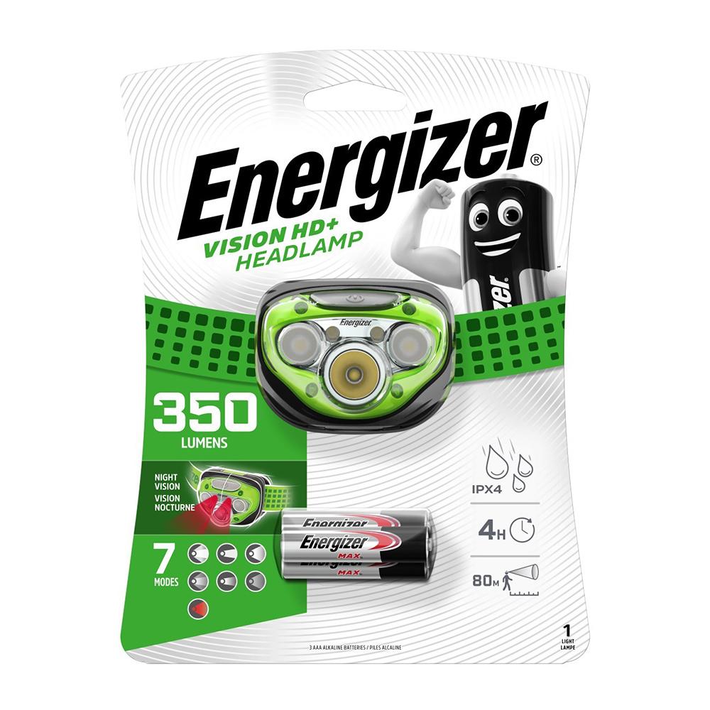 Фонарь налобный Energizer HL Vision HD (E300280604) светодиодный 5 LED на батарейках пластик