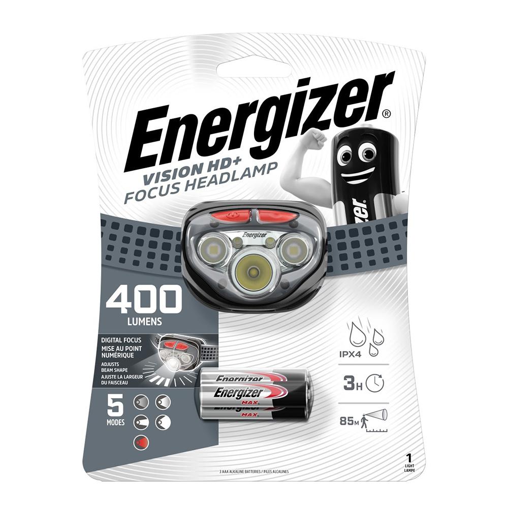 Фонарь налобный Energizer HL Vision HD Focus (E300280704) светодиодный 5 LED на батарейках пластик