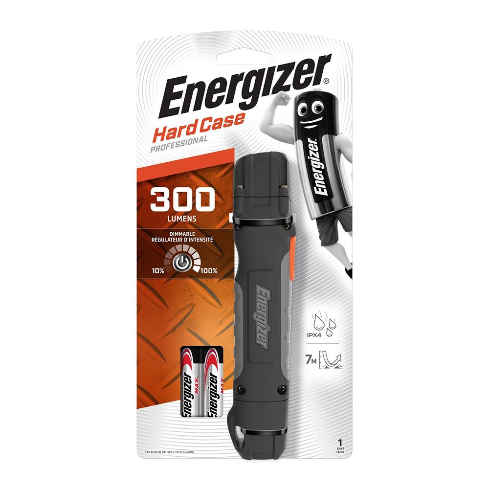 Фонарь ручной Energizer Hard Case Pro (E301746801) светодиодный 6 LED на батарейках ударопрочный пластик