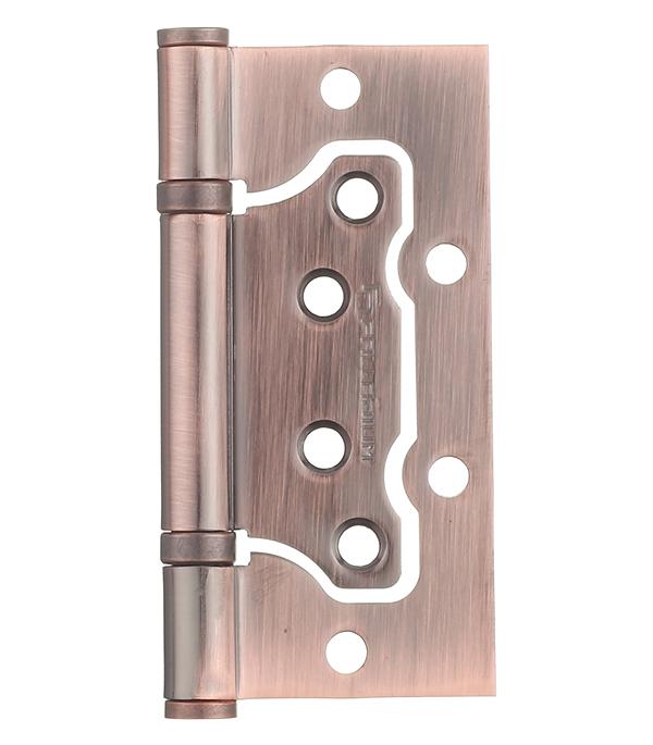 Петля накладная Palladium 2BB-100 AC медь дверные петли koral петля накладная без врезки 5x3x2 5 cp хром