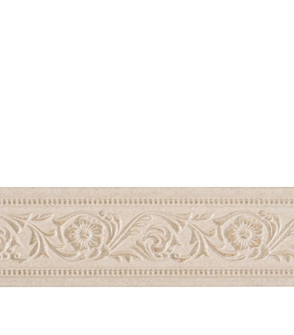 Плинтус (молдинг) из полистирола 80х12х2400 мм Decomaster бежевая патина плинтус молдинг 42х42х2400 мм decomaster прованс