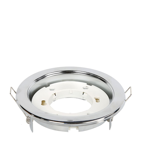 Светильник встраиваемый для лампы GX53 106мм серебро-хром-серебро