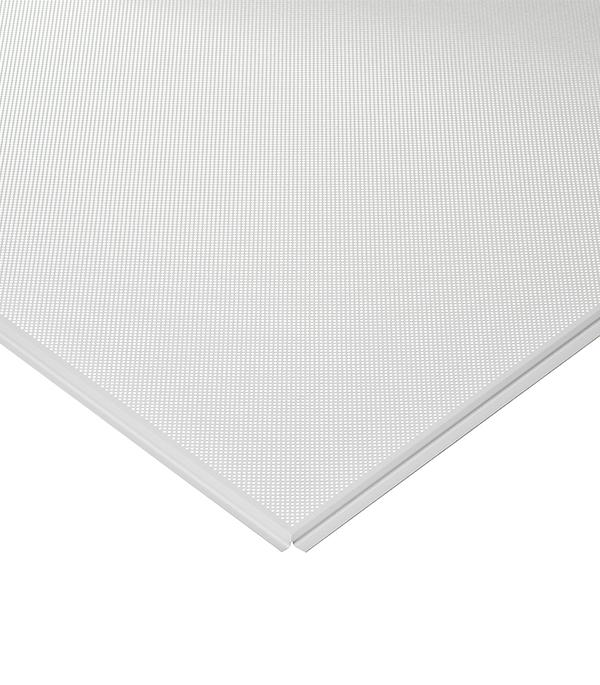 Купить Плита к подвесному потолку кассетная Албес Стандарт кромка Tegular 600х600 мм алюминевая белая перфорир, Алюминий