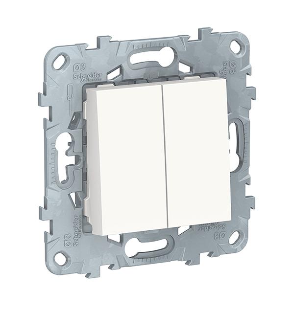 Механизм выключателя двухклавишного с/у Schneider Electric UNICA NEW белый механизм выключателя двухклавишного schneider electric unica с у бежевый