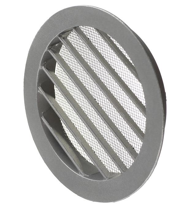 все цены на Вентиляционная решетка наружная круглая алюминиевая d150 мм c фланцем d125 мм онлайн