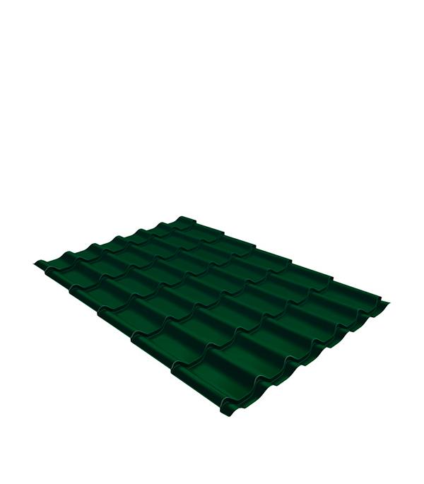 Купить Металлочерепица 1, 18х1, 15 м толщина 0, 5 Satin зеленая RAL 6005, Зеленый