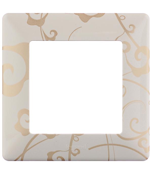 Рамка одноместная универсальная Legrand Valena LIFE ампир бежевый рамка для розеток и выключателей jung ecoprofi 2 поста цвет бежевый