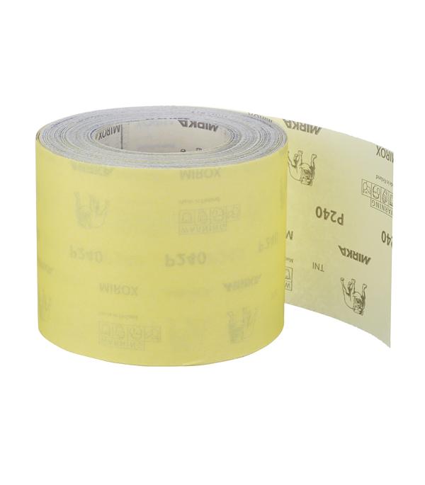 Наждачная бумага Mirox Mirka P240 желтая 115 мм 50 м ремень абразивный на тканой основе 100х292 мм p240 glob g100х292p240