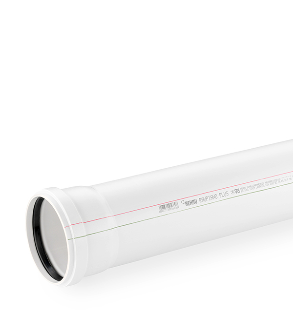 Труба канализационная внутренняя шумопоглощающая 110х500 мм Rehau Raupiano Plus