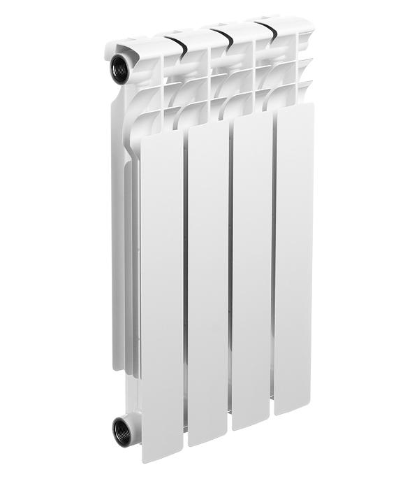 Радиатор биметаллический Halsen BS 500/80, 4 секции биметаллический радиатор oasis bse bsa gmb vgb 500 80 4 секции