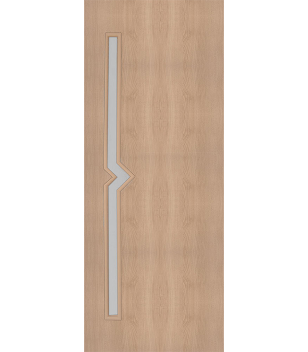 Купить Дверное полотно с 3D покрытием Вега Дуб Глостер 700х2000 мм, со стеклом, Ясень, Экошпон