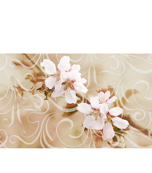 Плитка декор Сакура 250х400х8 мм коричневая 01 плитка декор 100х300х8 мм метро гжель 01 бело синий