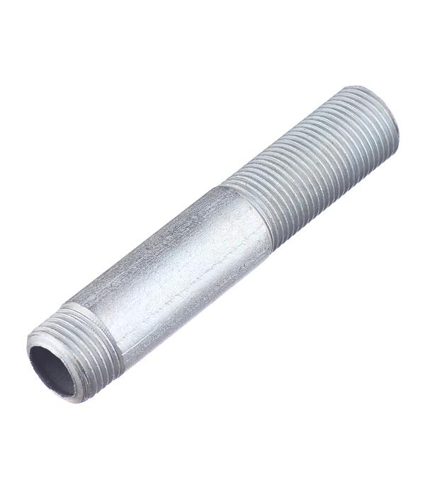 Сгон 1/2 нар(ш) стальной оцинкованный сгон 1 2 нар ш 200 мм