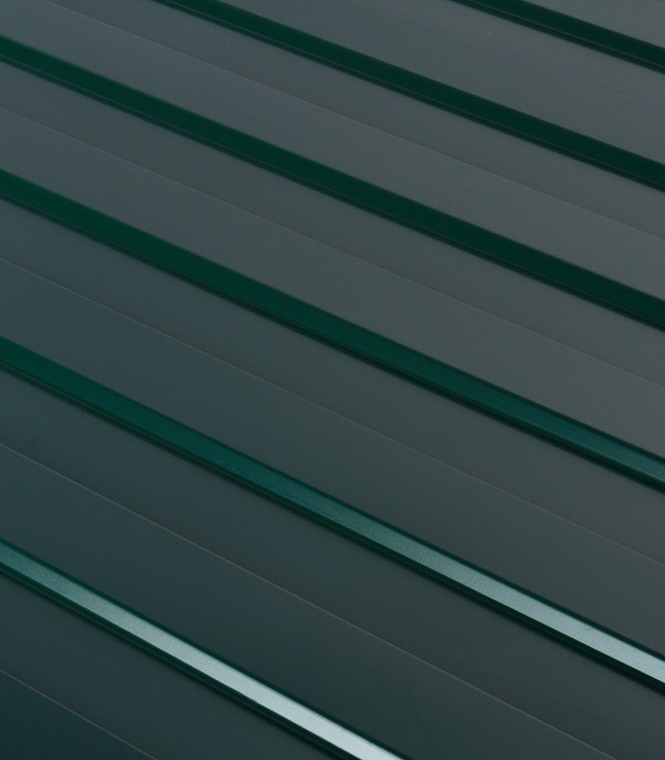 Купить Профнастил С8 1.20х2.00 м толщина 0.37 мм зеленый RAL6005, Зеленый