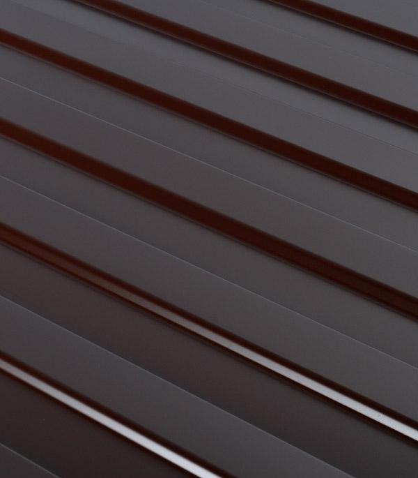 Купить Профнастил С8 1.20х2.00 м толщина 0.37 мм коричневый RAL8017, Коричневый