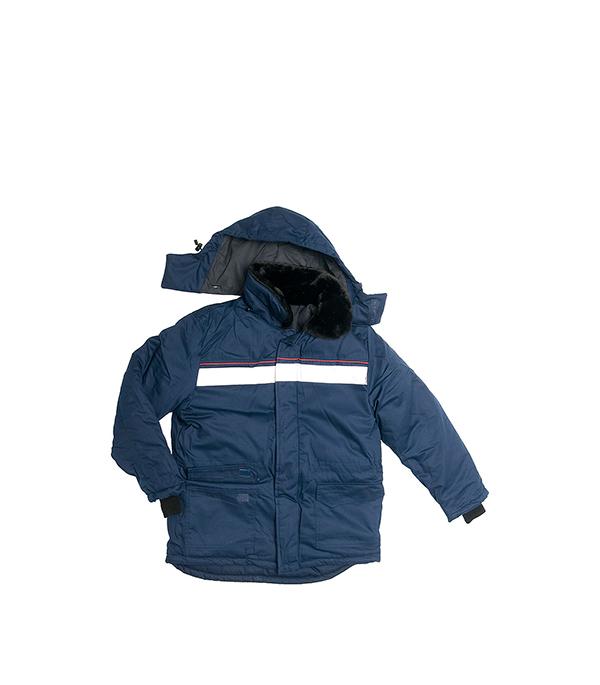 Куртка утепленная темно-синяя АЛТАЙ, размер 52-54 (104-108), рост 170-176 маскхалат камуфляжный размер 52 54 104 108 рост 170 176