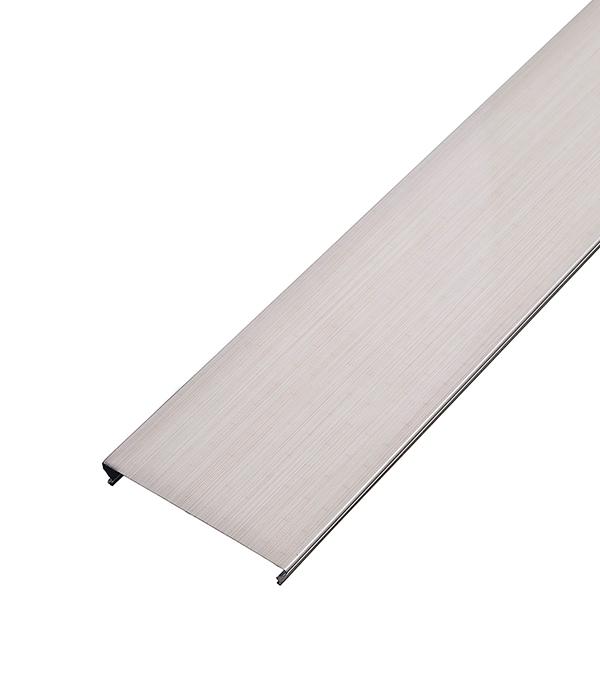 цена на Реечный потолок для туалетной комнаты 100AS 1.35х0.90 м комплект бледно розовый штрих на белом
