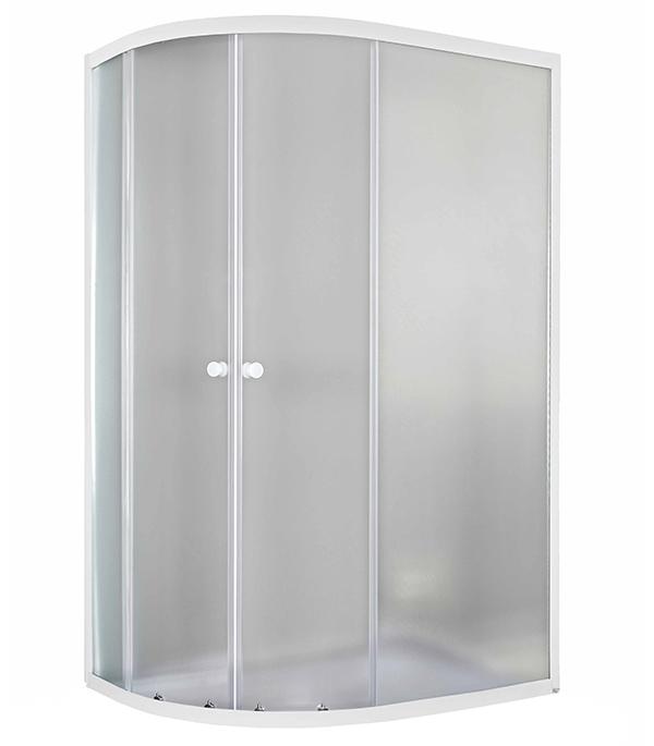 Душевое ограждение PEGAS Тина 120х80х185см ассиметричная правая стекло матовое 4 мм профиль белый к низкому поддону цена