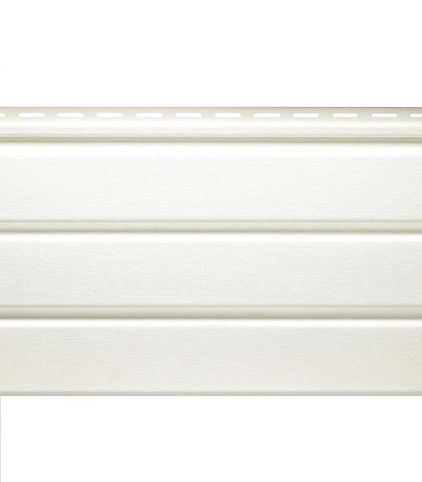 Сайдинг Vinyl-On софит сплошной 3000х305 мм, белый