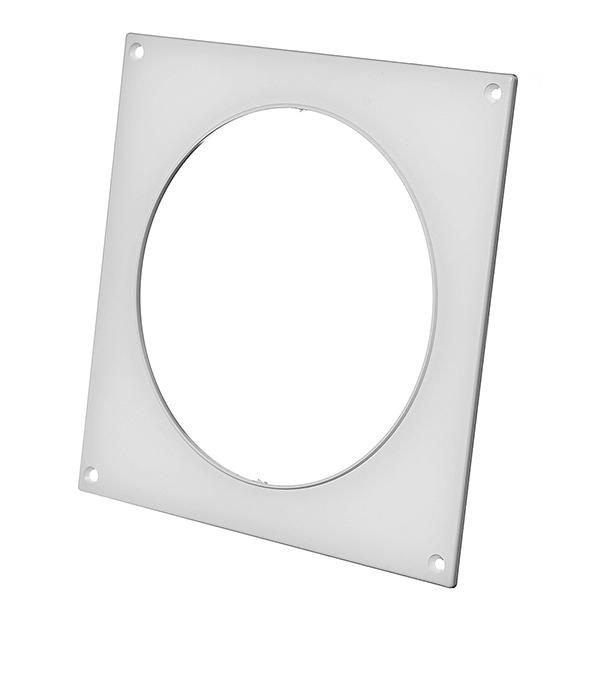 Купить Накладка настенная для круглых воздуховодов пластиковая d125 мм, Белый, Пластик