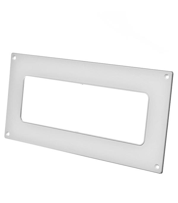 Купить Накладка настенная для плоских воздуховодов пластиковая 60х204 мм, Белый, Пластик