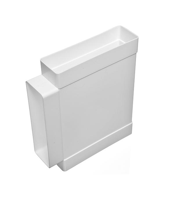 Купить Тройник для плоских воздуховодов пластиковый 60х204 мм 90°, Белый, Пластик