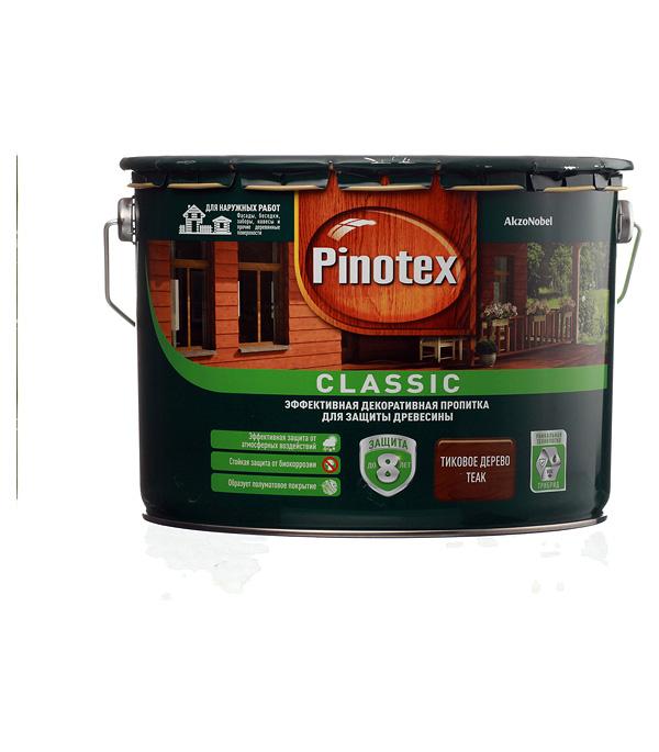 Купить Декоративно-защитная пропитка для древесины Pinotex Classic тик 9 л, Тик