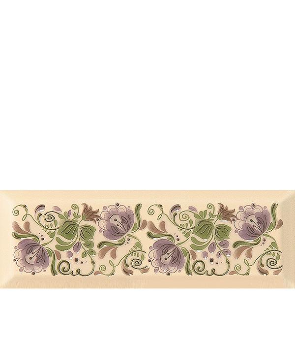 Плитка декор 100х300х8 мм Метро Гжель 08 лавандовый настенная плитка venus ceramica celine riga 22 5x60 7