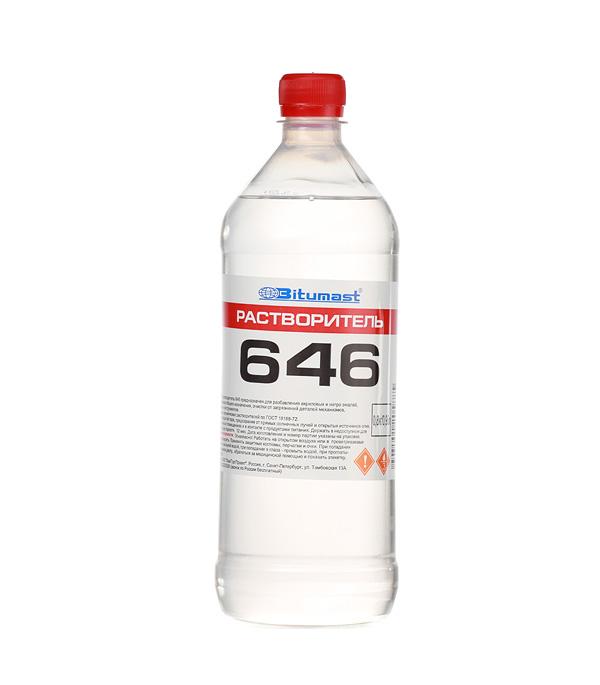 Растворитель 646 Bitumast ГОСТ 0,8 кг/0,95 л обезжириватель bitumast 0 7 кг 1 л