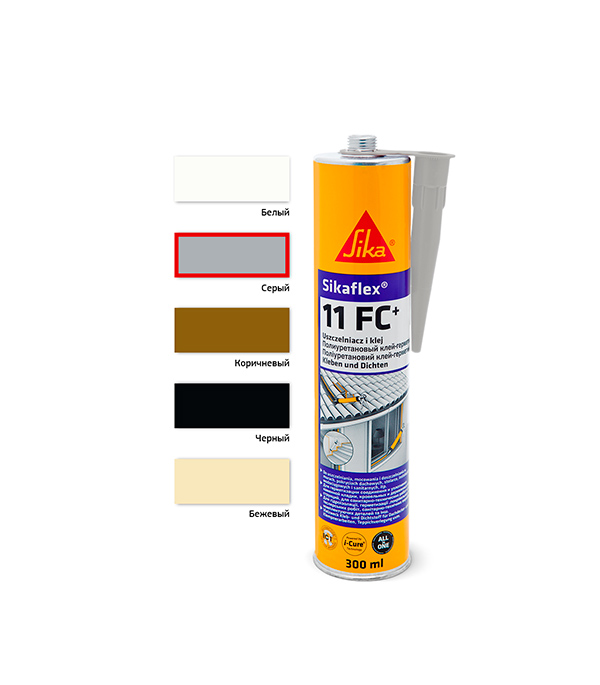 Герметик клей полиуретановый Sikaflex 11 FC+ 300 мл серый бетон