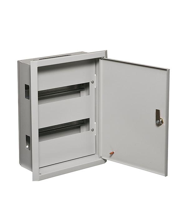 Щиток встраиваемый IEK ЩРВ для 24 модулей металлический IP31 щиток встраиваемый для 12 модулей металлический ip31 иэк щрв