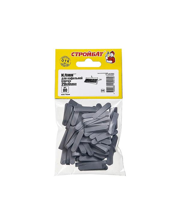 Купить Клинья для кафеля 29х6 мм (80 шт), Серый