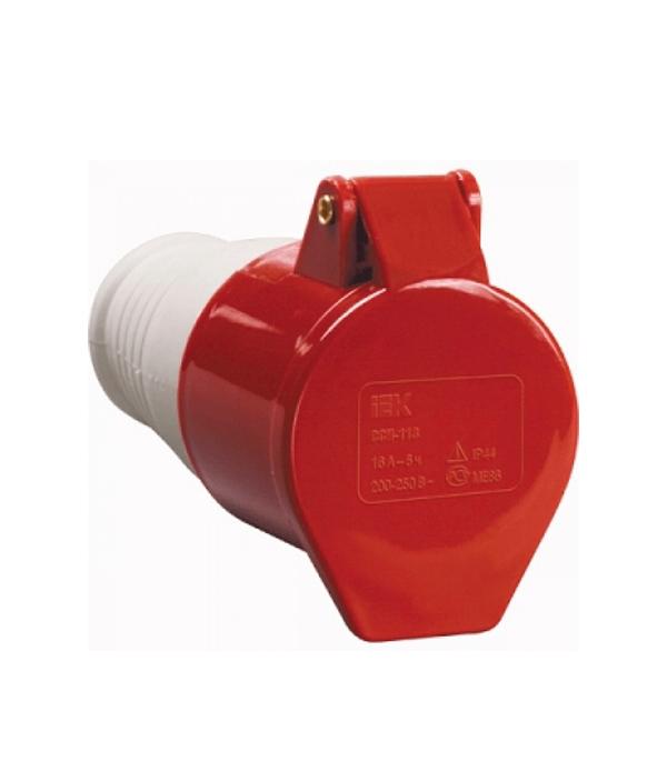 Розетка кабельная IEK 400В 3P+E 32A IP44 розетка кабельная iek 115 3p pe n