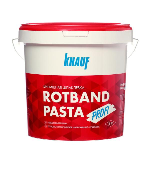 Шпаклевка финишная Knauf Ротбанд Профи паста 18 кг knauf кнауф ротбанд финиш шпаклевка гипсовая 25кг rotband finish шпаклевка гипсовая финишная 25кг