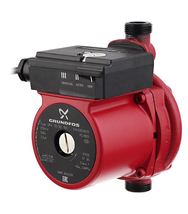 Насос повышения давления Grundfos UPA 15-90 с гайками насос для воды grundfos upa 15 90